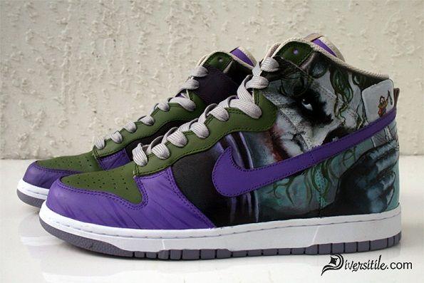 Custom Joker Shoes (Hi Tops, Left Side)