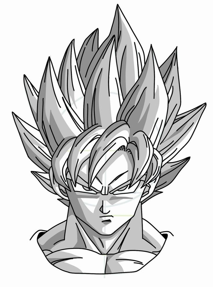 Drawing Goku Super Saiyan from Dragonball Z Tutorial