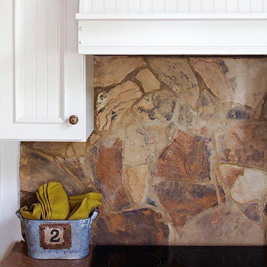 Kitchen Backsplash Natural Stone: 1000+ Ideas About Stone Backsplash On Pinterest