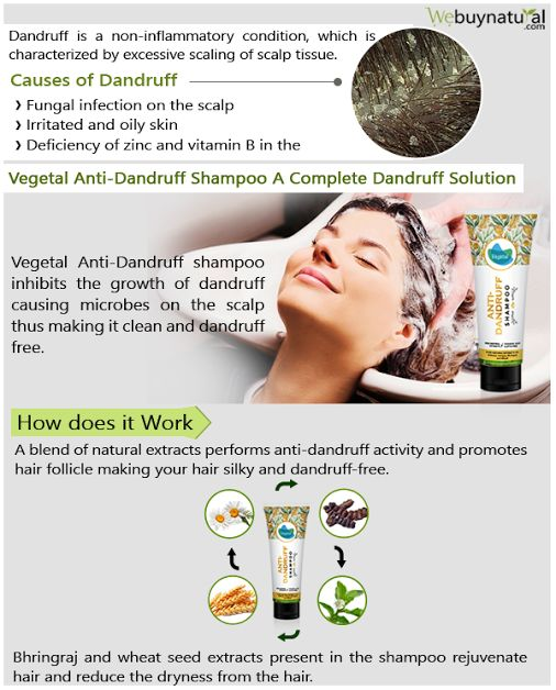 #VegetalAntiDandruffShampoo is a pure blend of 100% natural extract like Shikakai & Bhringraj, which promote anti-dandruff activity. It is enriched with vitamin E of Wheat Seed for rejuvenation of hair and keeps your hair look moisturized while averting dryness. #Antidandruffsolution