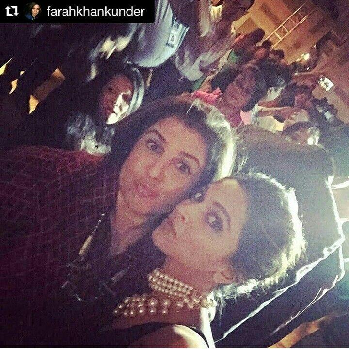 Deepika with Farah Khan