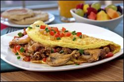 The no-guilt swap for a famous SUPERSIZED Denny's omelette. YEE-HAA!!!