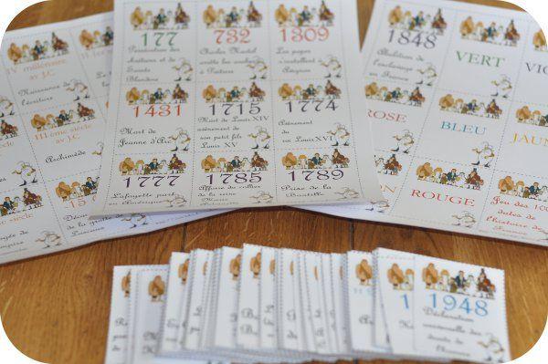 Le bonheur en famille: Nouveau jeu de cartes, les 100 dates de l'histoire...