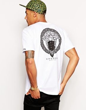 Crooks & Castles T-Shirt with Greco Bandit