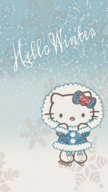 Hello Kitty Winter Wallpaper #HelloKitty #Winter #Snow
