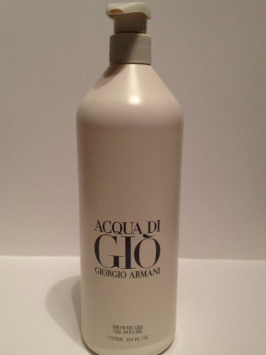 Armani Acqua Di Gio Pour Homme 33.8 oz / 1000 ml 1.Liter Shower Gel by Acqua Di Gio Pour Homme Shower Gel. $95.00. Armani Acqua Di Gio Pour Homme 33.8 oz / 1.Liter Shower Gel. Armani Acqua Di Gio Pour Homme Shower Gel. Armani Acqua Di Gio Pour Homme 1000 ml Shower Gel. Acqua Di Gio Shower Gel Giorgio Armani  Giorgio Armani Acqua Di Gio Shower Gel Acqua Di Gio Pour Homme 33.8 oz / 1.Liter Shower Gel A resolutely masculine fragrance born from the sea, the sun, the earth, ...