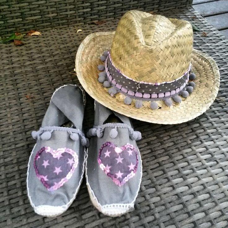 Conjunto alpargatas y sombrero annacivis@hotmail.com