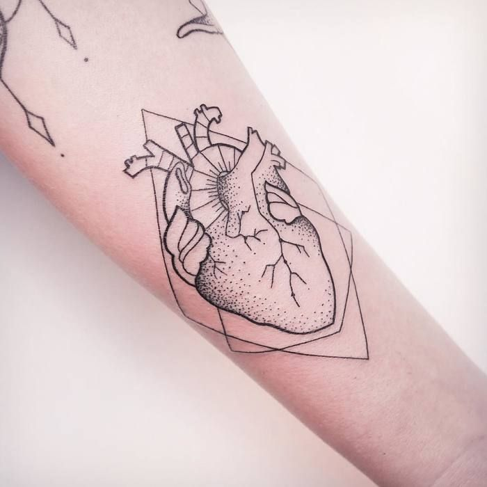 Anatomical Heart Tattoo by Melina Wendlandt