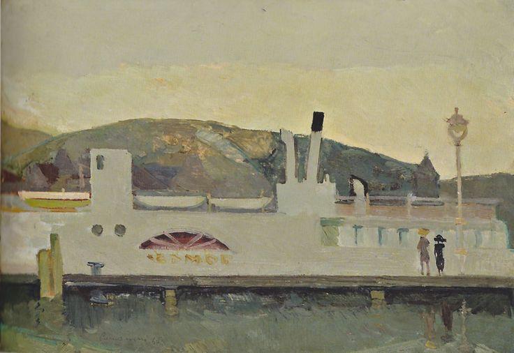 Leonardo Cremonini - il battello di Lucerna - 1948