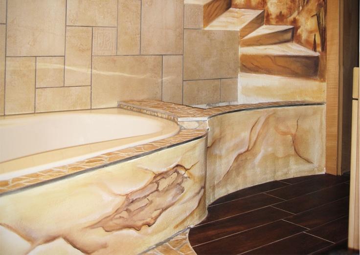 Ein Badezimmer im griechisch-römischen Stil. Hier lässt es ...