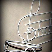 Кованые изделия Макаров и сыновья, Подставка для цветов Скрипичный ключ