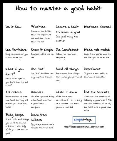 Good habits - I'll read it later to stop procrastinating.