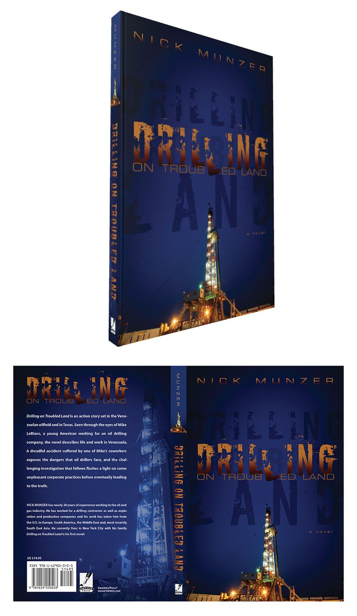 Book Cover Design: Drilling on Troubled Land