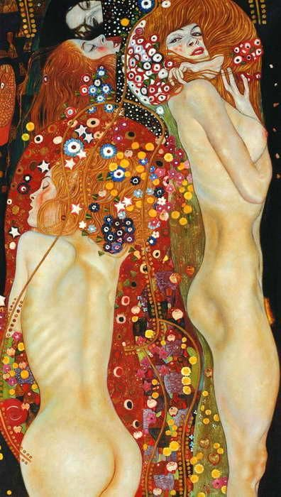 Gustav Klimt. Probably my second favorite of his. Love how he makes the features on the body pop.