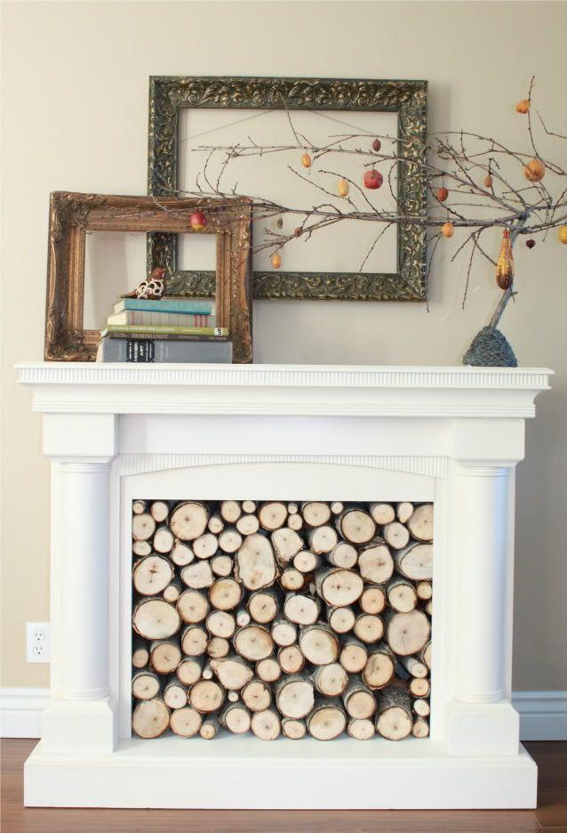 Best 25 Fireplace Filler Ideas On Pinterest