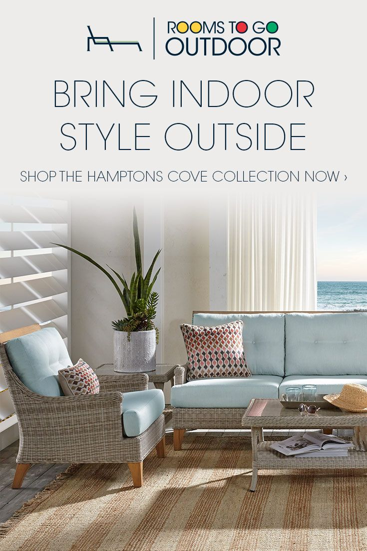 An Outdoor Oasis Is At Your Fingertips With The Hamptons Cove Collection Rooms To Go Cindycrawford Cindycrawfordhome