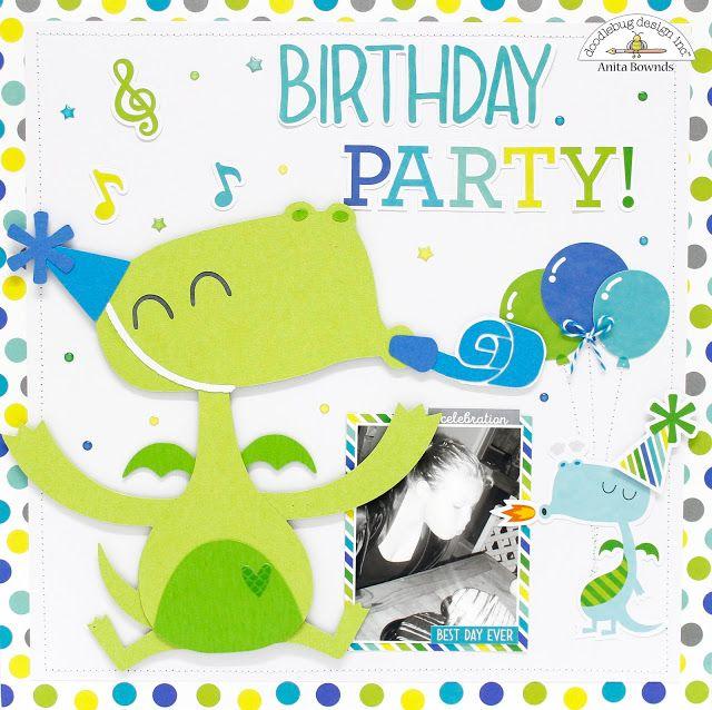 Doodlebug Design Inc Blog Dragon Tales Cut Files Birthday Party Layout By Anita