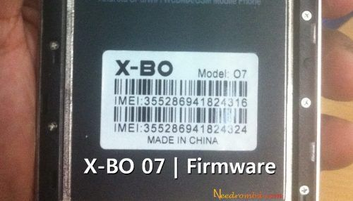 X-BO 07 V1 0 9 Update Firmware Rom | Smartphone Firmware