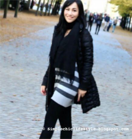 Fall/winter street style:the black down coat maxmara - simple chic lifestyle