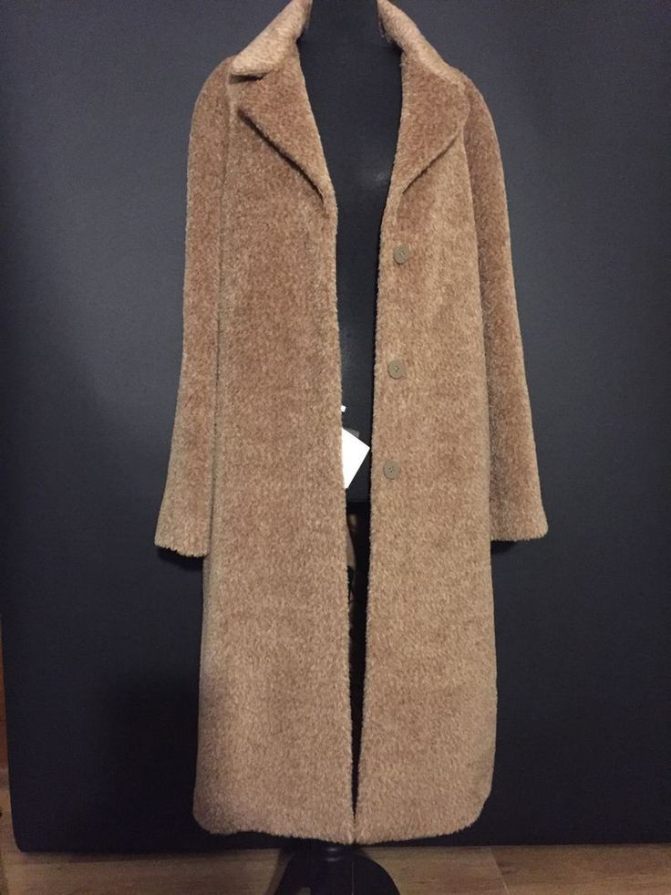 Max Mara Studio Alpaca Coat It48 Eu44 Us14 NEW #MaxMara #BasicCoat