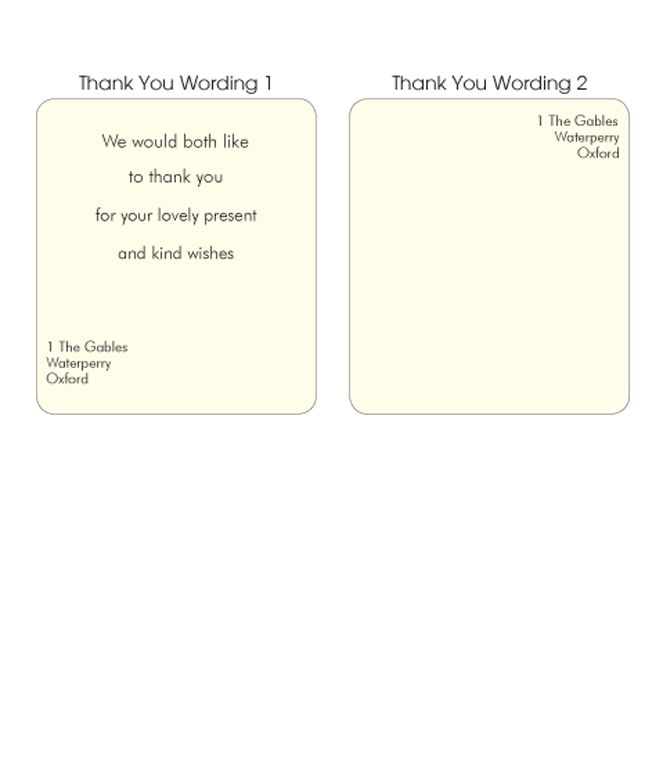 Wording For Wedding Thank You Cards Zrom