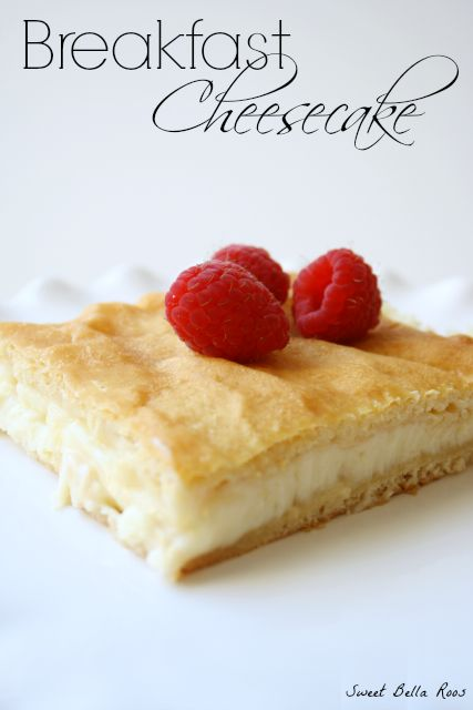 Breakfast Cheesecake- move over muffins, this stuff is amazing! #breakfast #recipe I already eat cheesecake for breakfast, but now I can do it without hiding in the pantry:)