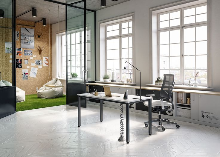 A minimalist office arranged in the Scandinavian style supports the people who perform concentrated work and appreciate transparency – both in terms of business activities and space. #MYoffice #MakeYourSpace #skandinavianstyle