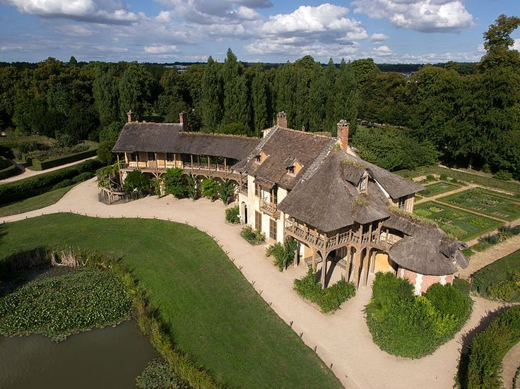 Spectacular Some amazing aerial views of Marie Antoinette us hamlet at the Palace of Versailles