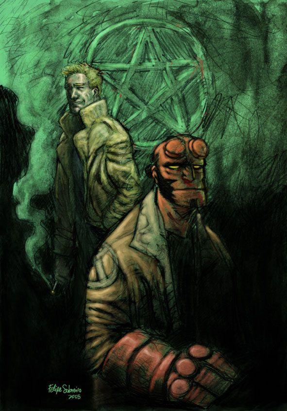 Hellboy, Hellblazer by sobreiro on deviantART
