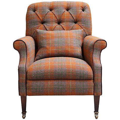 Buy Harris Tweed Country Armchair, Summer Check Online At Johnlewis.com
