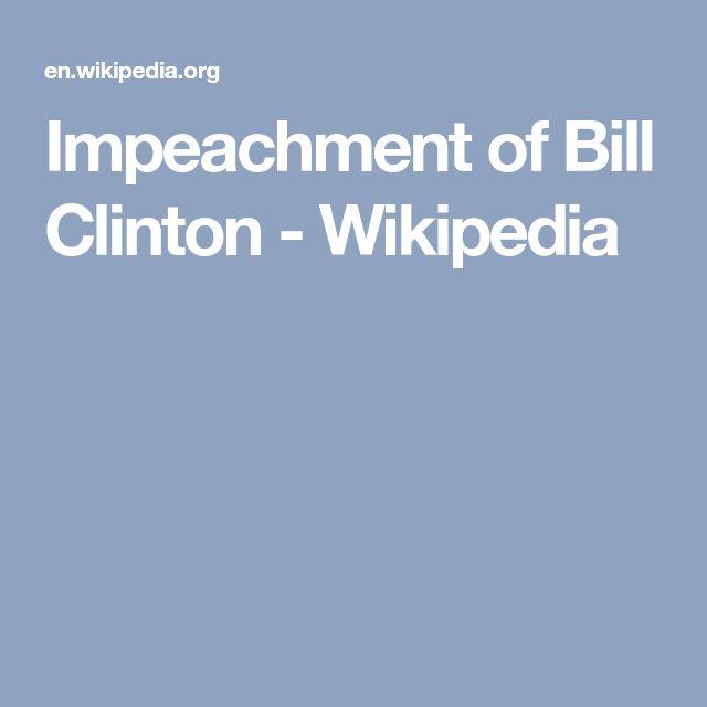Impeachment of Bill Clinton - Wikipedia