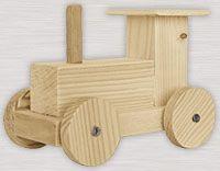Bauanleitung: Lokomotive aus Holz – Sine