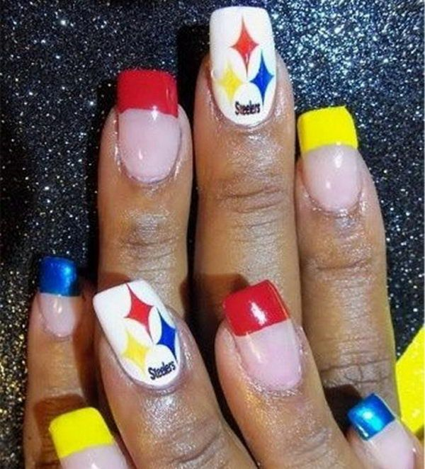 33 best steelers nail designs images on pinterest beauty hacks 25 cool football nail art designs prinsesfo Choice Image
