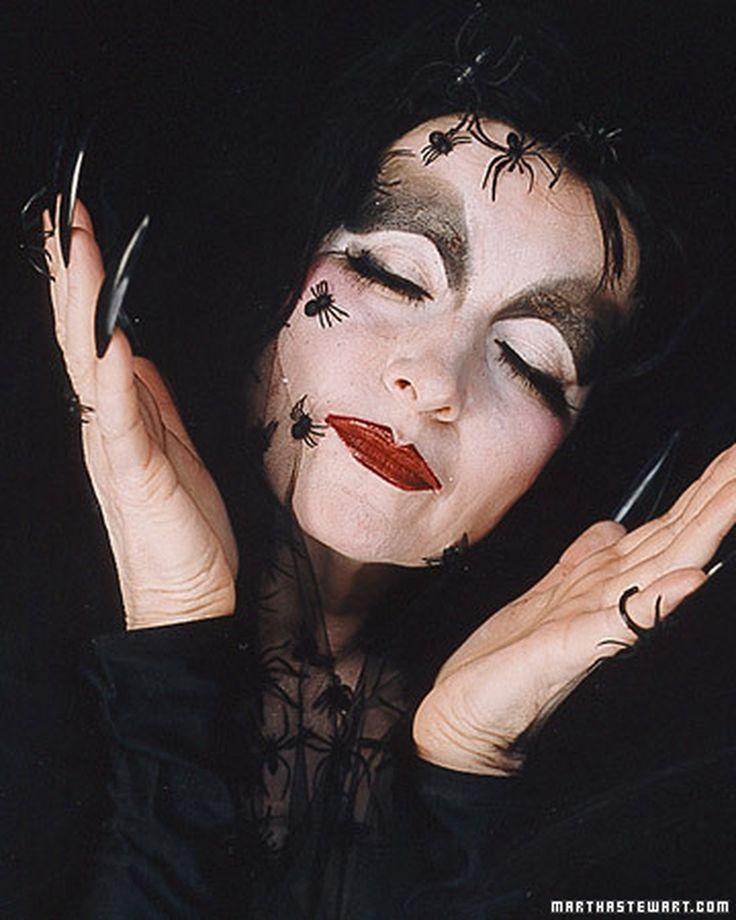 Black Widow Makeup | Martha Stewart Living - Martha's transformation ...
