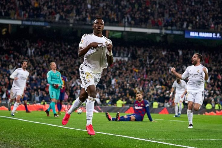El Clasico Real Madrid Beat Barcelona Real Madrid Madrid Ronaldo Celebration