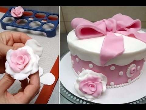 How To Make Fondant Roses -  Fast And Easy Way. Tutorial by CakesStepbyStep