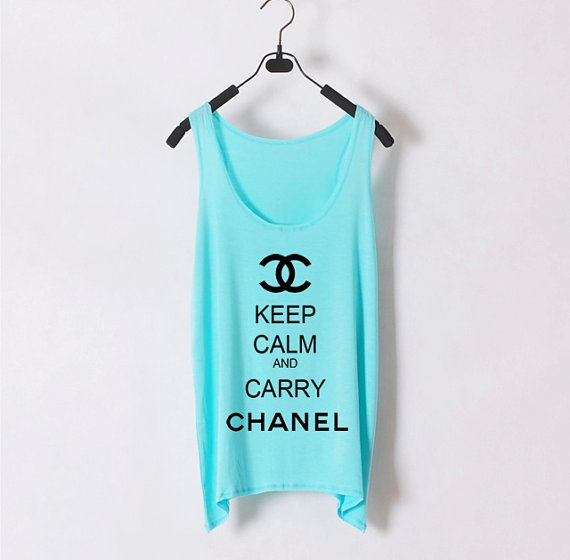 Keep Calm and Carry Chanel  Women Tank Top  Light by zzzAfternoon, $22.00