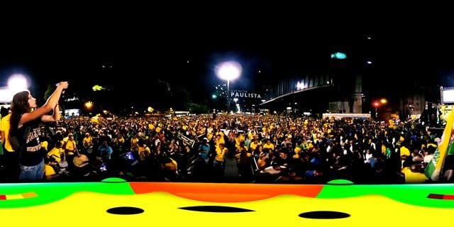 Random movie 360 video clips from Brazil. Including scenes from the protests for the impeachment of President Dilma