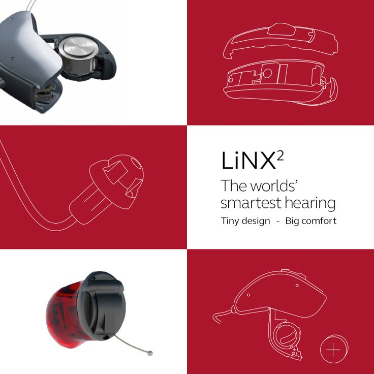 LiNX2, the worlds' smartest hearing. Tiny design - Big comfort  Visit resound.com/en-AU/hearing-aids/linx2