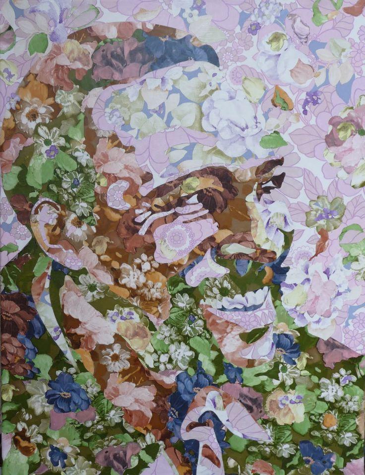 Marvin in vintage wallpaper