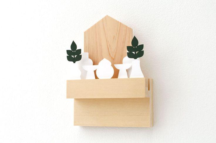 デザインでえらぶ新しい神棚。ちょっとしたスペースがあればお祀り可能なコンパクトな神棚や、氏神神社さまや崇敬神社さまで入魂・お祓いしていただくことでアクティベートできる御札