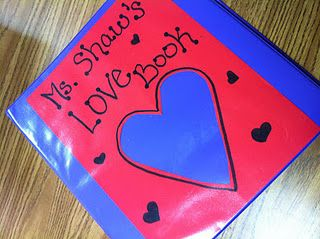 "what does a teacher do with all the notes and pictures students give to them?  Why find them a home in my future ""love book"" of course.  :-)"