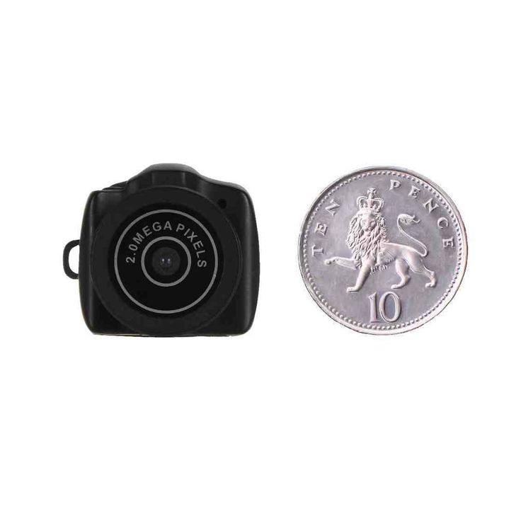 Worlds Smallest Spy Camera - The size of a 10p coin and will record video and take pictures. #Spy #Gadgets #Camera #Miniature