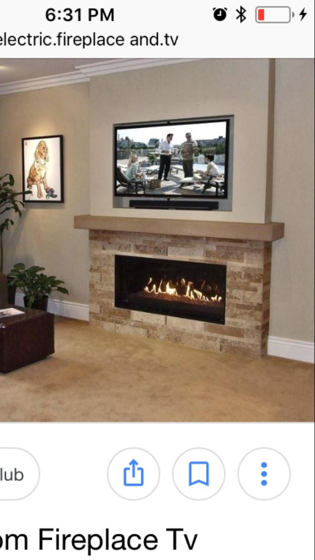 Maybe This Stone On Bottom Half W Fireplace Mantle Piece Then Tv Above The Mantle Piece On Open Wall Fireplace Fireplace Redo Tv Above Fireplace