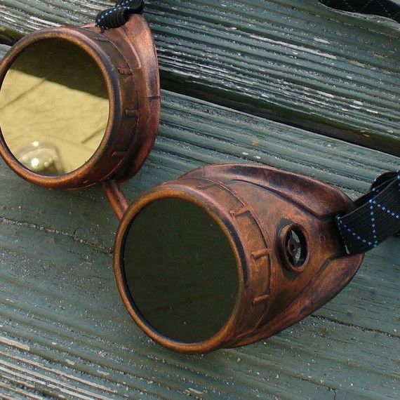 Steampunk goggles glasses aviator Time by oldjunkyardboutique, $29.99 definitely investing in some goggles this year