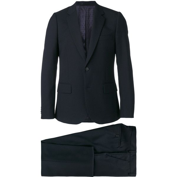 Paul Smith two piece suit (€890) ❤ liked on Polyvore featuring men's fashion, men's clothing, men's suits, blue, men's 2 piece suits, mens two piece suits, mens blue suit, paul smith mens suits and paul smith mens clothing