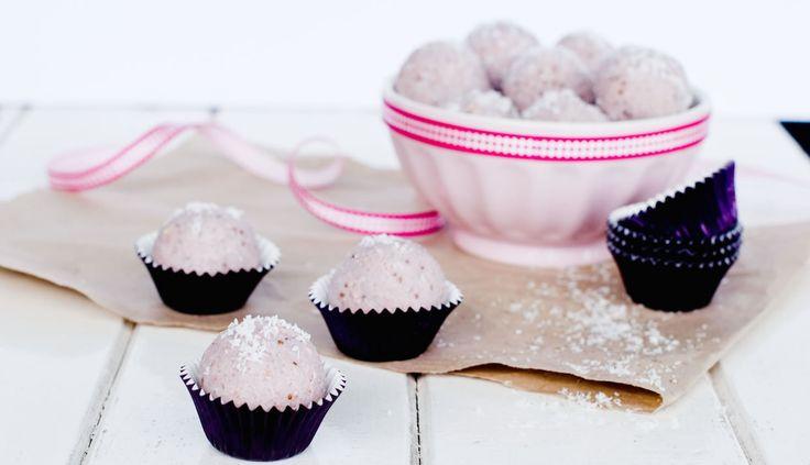 Strawberry Ripe Bliss Balls