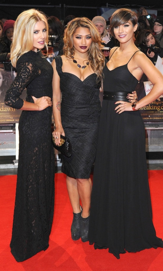 Mollie King, Vanessa White And Frankie Sandford From The Saturdays At The Twilight Saga: Breaking Dawn Part 2 Premiere, 2012