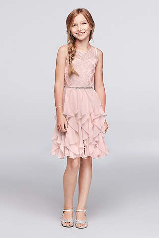 Junior & Girls Bridesmaid Dresses | David's Bridal(ONLY in Blush)