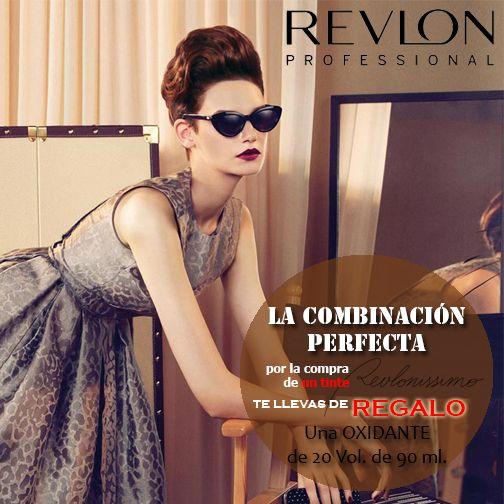 Por la compra de un tinte de Revlon, Revlonissimo, te llevas de regalo  el oxidante...http://bit.ly/1q8Nqd3